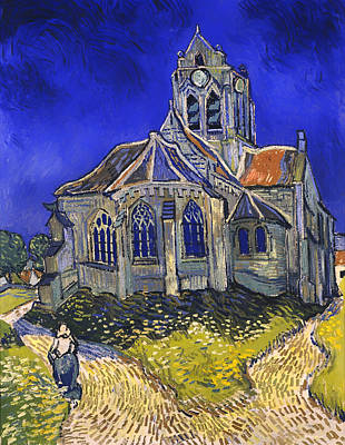 The Church In Auvers-sur-oise Poster by Mountain Dreams