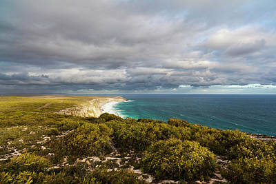 The Cliff Line Near Remarkable Rocks Poster by Martin Zwick