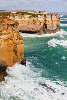 The Coastline Near Loch Ard Gorge, View Poster by Martin Zwick