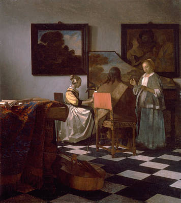 The Concert Poster by Johannes Vermeer