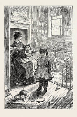 The Creche, Or Babys Home, In Stepney, London Poster