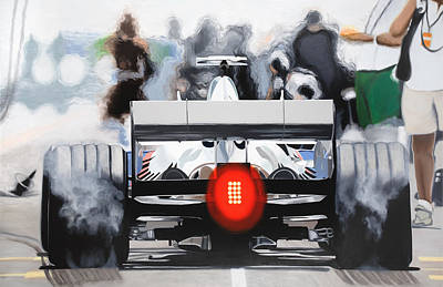 The F1 Burger Poster by Marcella Lassen