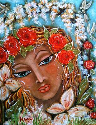 The Fairies In Merlynn's Garden Poster by Maya Telford
