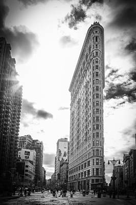 The Famous Flatiron Building - New York City Poster by Erin Cadigan