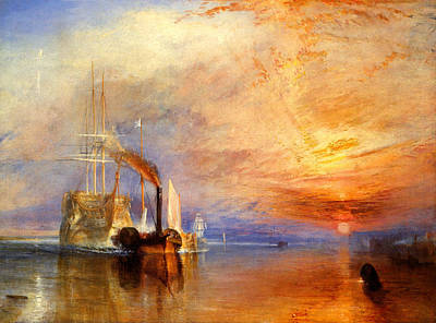 The Fighting Temeraire Tugged To Her Last Berth To Be Broken Up Poster by J M W Turner