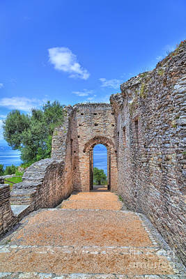 The Grotto Catullus In Sirmione At The Lake Garda Poster