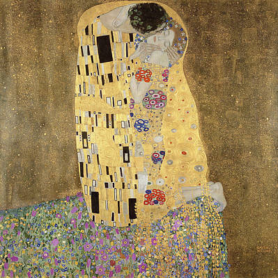 Poster featuring the painting The Kiss by Celestial Images
