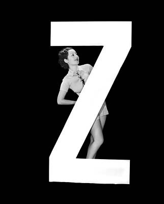 The Letter z And A Woman Poster