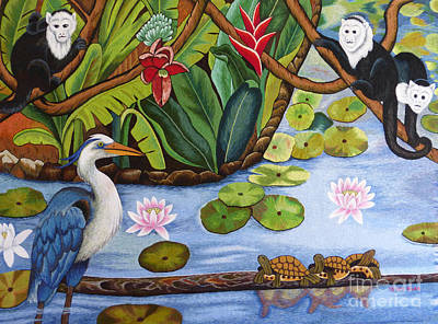 The Lotus Pond Hand Embroidery Poster