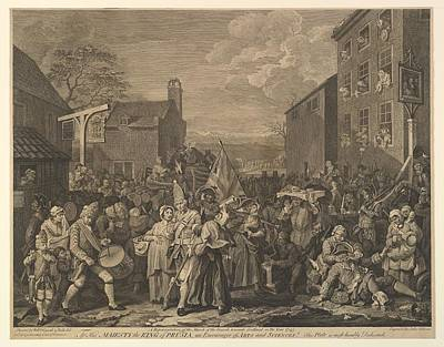 The March To Finchley A Representation Poster by after William Hogarth