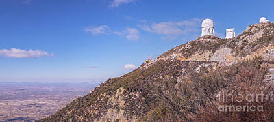 The Mayall Observatory Atop Kitt Peak Poster