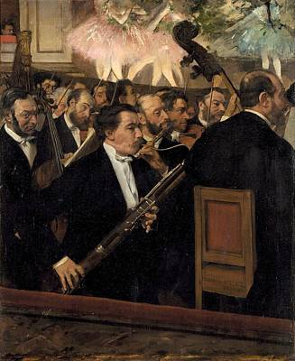 The Opera Orchestra Poster by Edgar Degas