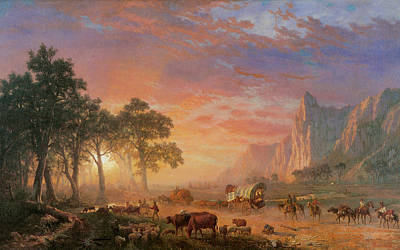 The Oregon Trail Poster by Albert Bierstadt