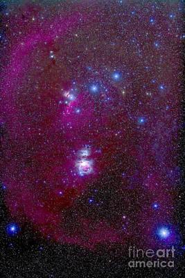 The Orion Nebula, Belt Of Orion, Sword Poster