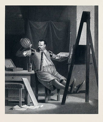 The Painter Relaxing. Painter, Beer, Beer Glass, Beer Jug Poster by English School