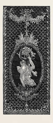The Paris International Exhibition French Embroidered Poster by French School