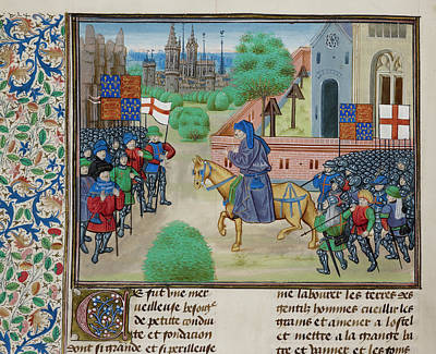 The Peasants' Revolt In England In 1381 Poster by British Library