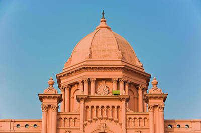 The Pink Colored Ahsan Manzil Palace Poster by Michael Runkel