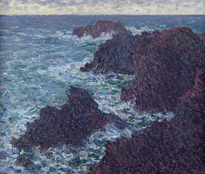 The Rocks At Belle-ile Poster by Claude Monet