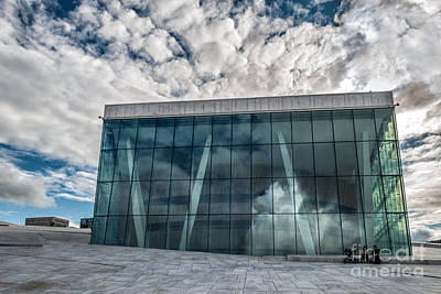 The Royal National Opera House In Oslo Norway Poster by Frank Bach