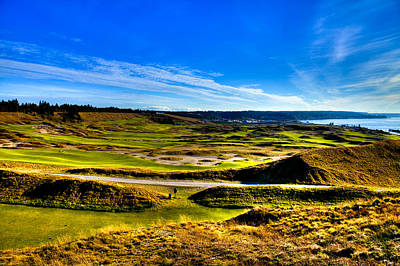 The Scenic Chambers Bay Golf Course Iv - Location Of The 2015 U.s. Open Tournament Poster by David Patterson