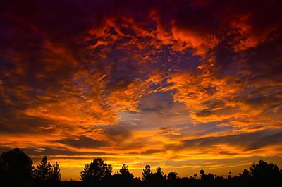 The Sky Is On Fire  Poster by Saija  Lehtonen
