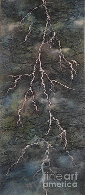 Poster featuring the painting The Storm by Chrisann Ellis