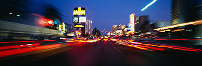 The Strip At Dusk, Las Vegas, Nevada Poster by Panoramic Images