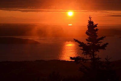The Sunrise From Cadillac Mountain In Acadia National Park Poster by Toby McGuire