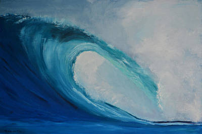 The Surf Poster by Zilpa Van der Gragt