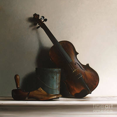 The Violin Poster by Larry Preston