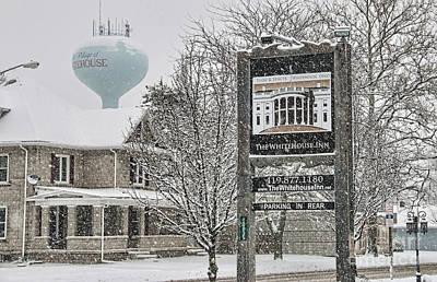 The Whitehouse Inn Sign 7034 Poster