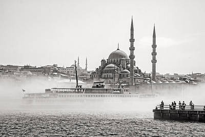 The Yeni Mosque In Fog Poster