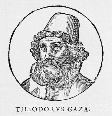 Theodorus Gaza, Greek Humanist Poster by Middle Temple Library
