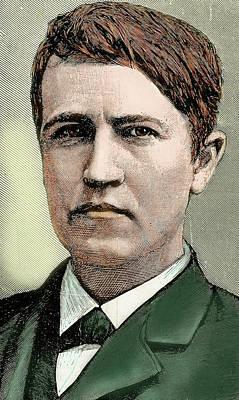 Thomas Alva Edison (1847-1931 Poster by Prisma Archivo