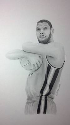 Tim Duncan Poster by Don Cartier