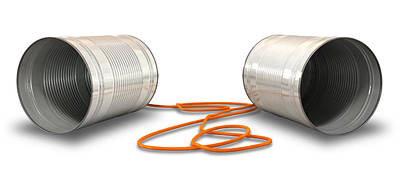 Tin Telephones Poster by Allan Swart