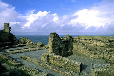 Tintagel Castle In Cornwall, England Poster by Bill Bachmann