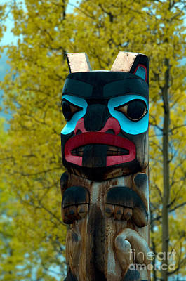 Tlingit Totem Poster by Mark Newman