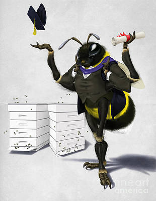 To Bee Or Not Too Bee Wordless Poster by Rob Snow