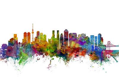 Tokyo Japan Skyline Poster