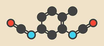 Toluene Diisocyanate Molecule Poster