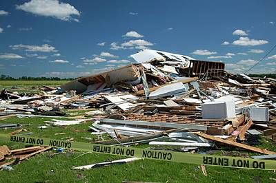 Tornado Damage Poster by Jim West