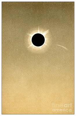 Total Solar Eclipse Of 1882 And Comet Poster by Detlev van Ravenswaay