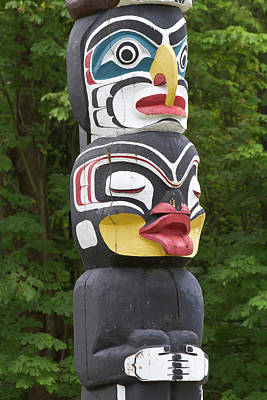 Totem Pole, Vancouver, British Poster
