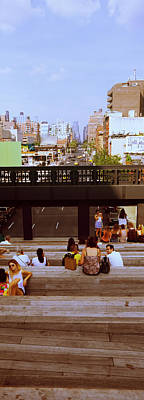 Tourists In An Elevated Park, High Poster