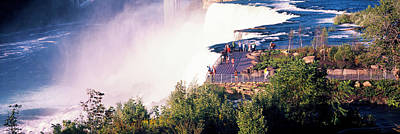 Tourists On Observation Tower, Niagara Poster