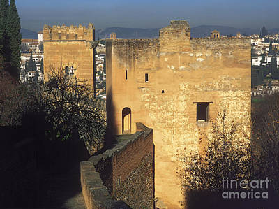 Tower Of The Cadi The Alhambra Poster by Guido Montanes Castillo