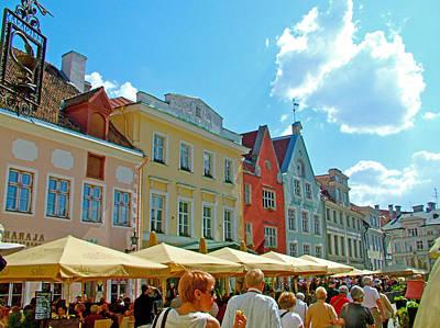 Town Square In Old Town Tallinn-estonia Poster