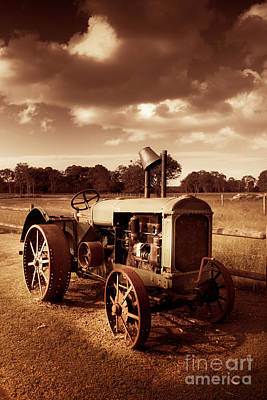 Tractor From Yesteryear Poster by Jorgo Photography - Wall Art Gallery